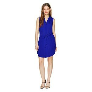 Aritzia Babaton Benedict Royal Blue Silk Dress